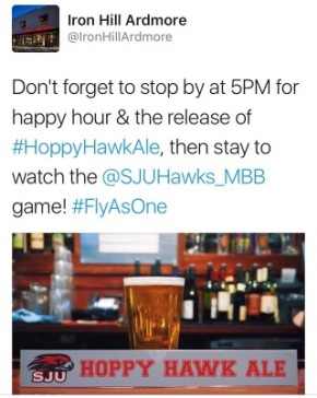 The Hawk Is Alive! Iron Hill Brewery Releases St. Joe's Beer